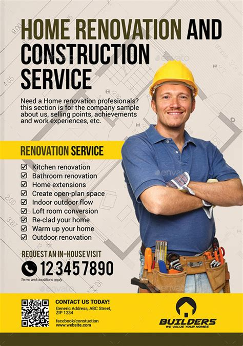construction flyer templates construction company flyer 25 free psd ai vector eps