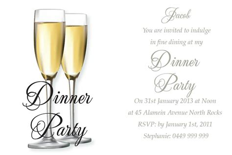 Dinner Invitation Card Formal Dinner Invitation Template