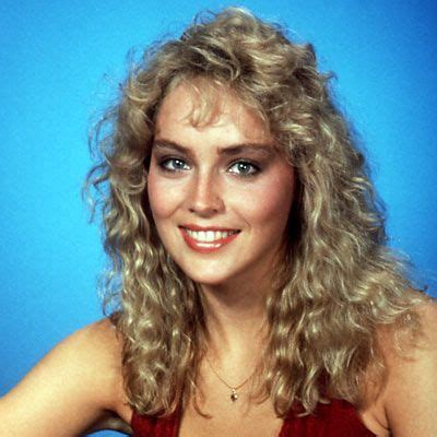 hairstyles in 1983 sharon stone stones and a young on pinterest