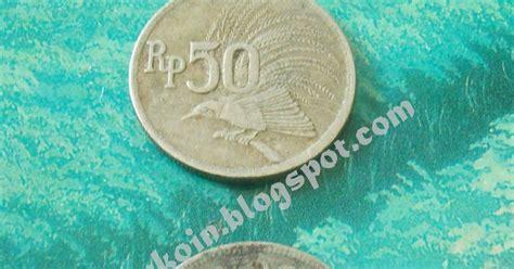 Koin Rp 50 Emisi 1971 koin kuno 50 rupiah 1971 copper nikel bird of paradise
