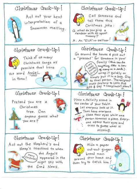 printable christmas games and activities fun christmas activities and lots of free printables