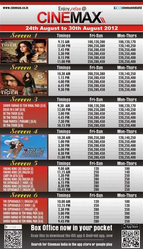 cinemaxx schedule movie screening schedule 24 to 30 august 2012 at cinemax