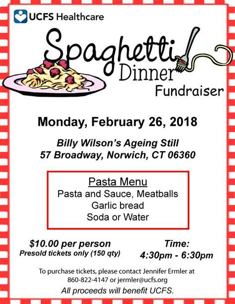 Spaghetti Dinner Fundraiser United Community Family Services Spaghetti Dinner Fundraiser Flyer Template