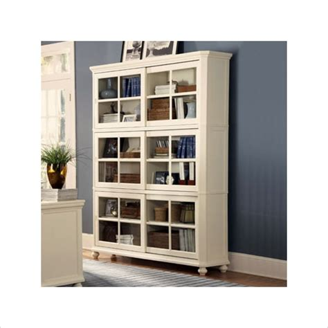 Book Cabinet With Doors by Furniture White Wooden Book Cabinet With Glass Door Added