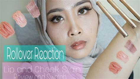 Jual Rollover Reaction Lip Cheek Stain review swatch rollover reaction lip cheek stain