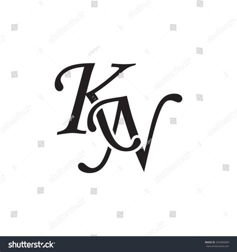royalty free kn initial monogram logo 342900569 stock