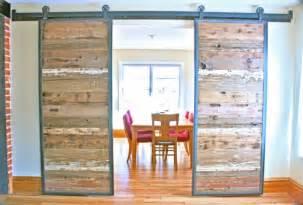 Reclaimed Wood Sliding Barn Doors Home Decor Solution Sliding Barn Doors In Reclaimed Wood The Alternative Consumer