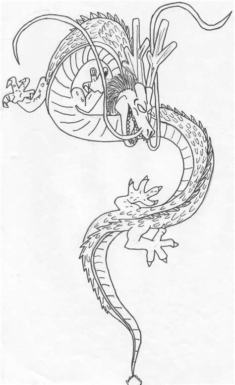 dragon ball z shenron coloring pages dragon ball shenron coloring pages