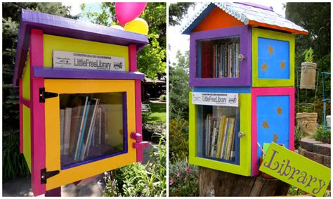 tiny library little free library miriam s well poetry land art and