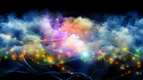 digital art minimalism colorful abstract smoke galaxy