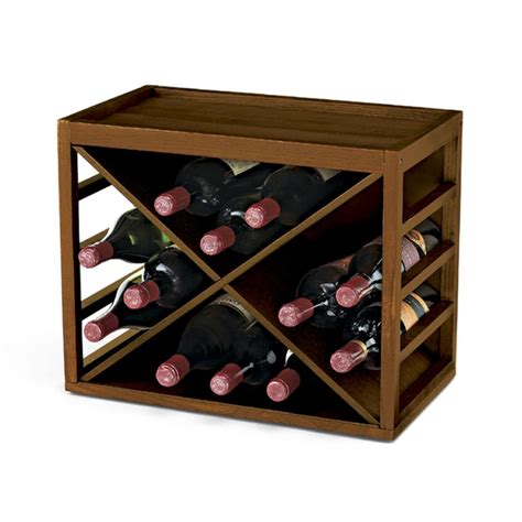 A Wine Rack by Cube Stack 12 Bottle X Wine Rack