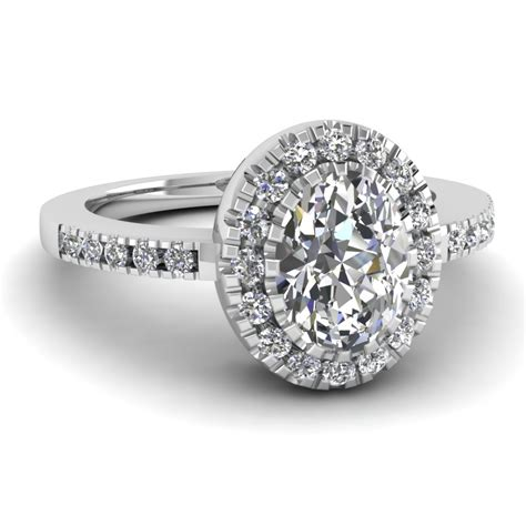 oval halo ring fascinating diamonds