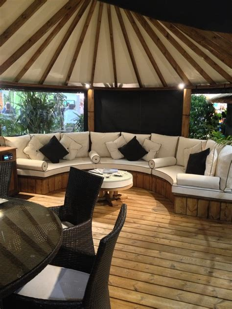 beautiful outdoor garden chill out area found at grand