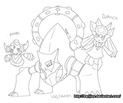 pokemon coloring pages hoopa hoopa free colouring pages