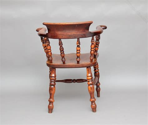 Wooden Captains Chairs by Yew Wood Captains Chair Antiques Atlas