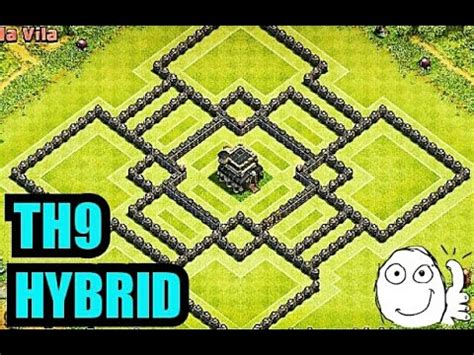 th9 layout new update clash of clans th9 hybrid base new update 2015 2016