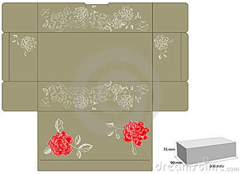 template  gift box  die cut royalty  stock