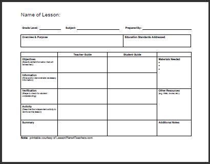 lesson plan template for college instructors daily template 1 teacherplanet