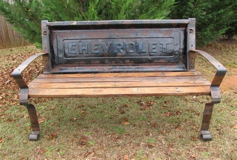 tail gate bench chevy tailgate bench gardening pinterest