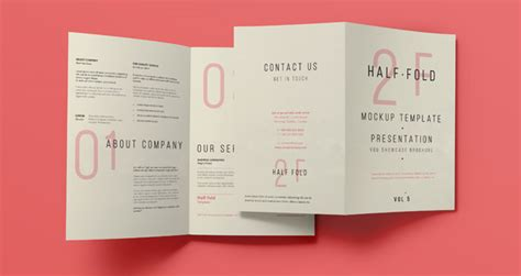 Free Bi Fold Card Template by Psd Bi Fold Mockup Template Vol5 Psd Mock Up Templates