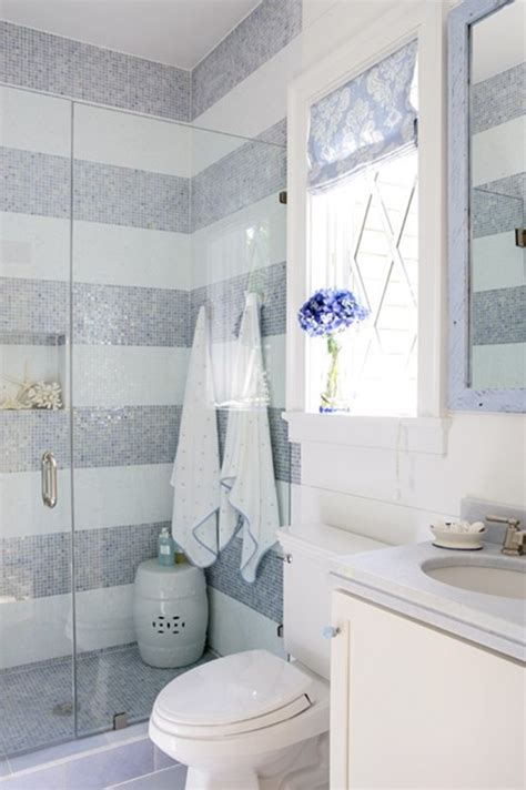 part tiled bathroom love these striped tiled walls no money for tile spruce