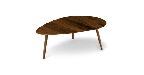 amoeba walnut 42 5 quot wide coffee table coffee tables