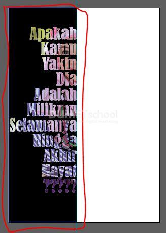 membuat teks anekdot panjang cara membuat clipping mask teks ke gambar kursus desain
