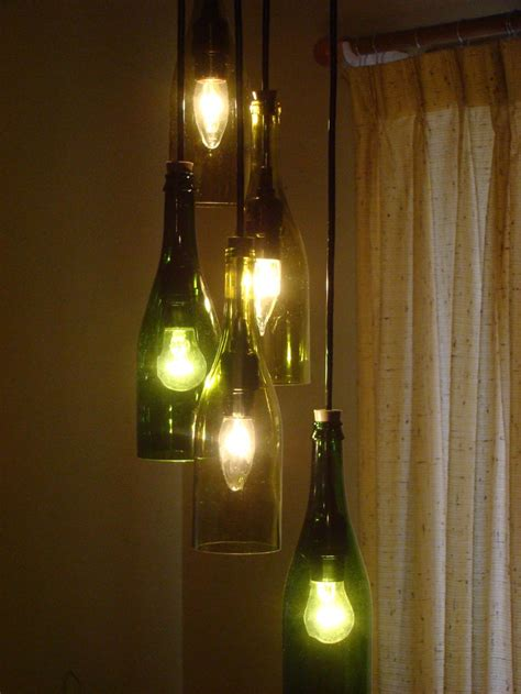Cascading Wine Bottle Chandelier Wine Bottle Chandeliers