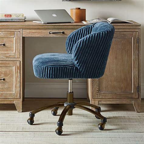 midnight chamois wingback desk chair pbteen