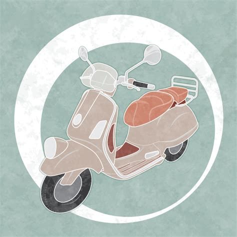 Vintage Line Art Tutorial | how to create a line art vintage vector scooter in illustrator