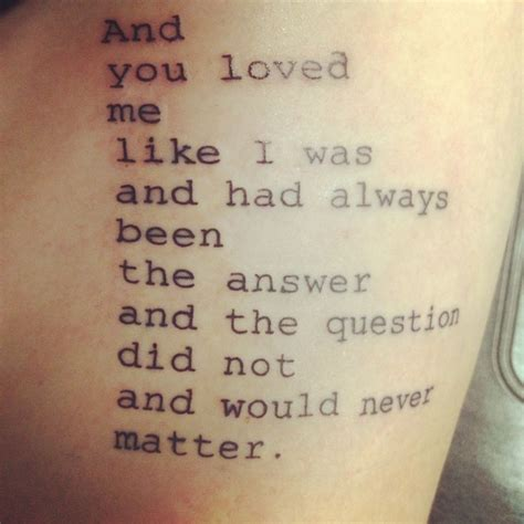 poetry tattoos quotes and poems quotesgram