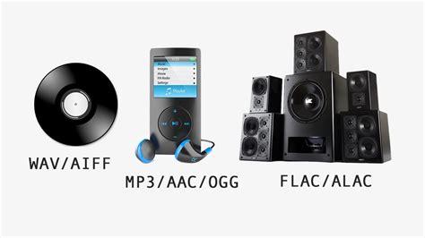 audio format explained mp3 vs flac vs wav vs aac audio file formats explained