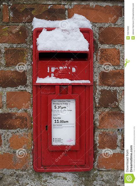 snow covered letters snow covered letter box stock photography image 13575002