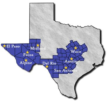 western district of map offices of the western district of usao wdtx