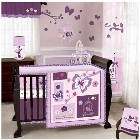 lamb crib bedding lambs and ivy lambs u0026 ivy raspberry swirl butterfly 3