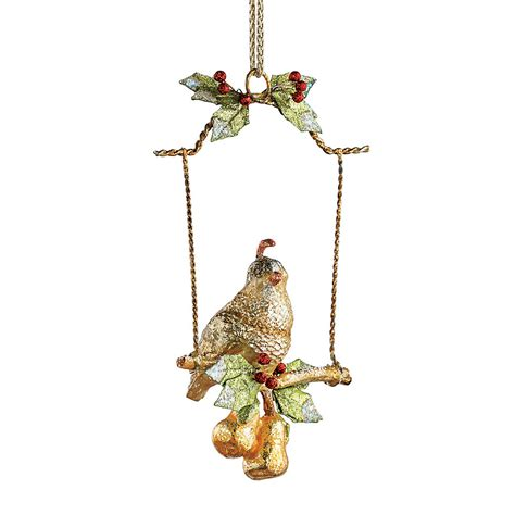 partridge on swing christmas ornament gump s