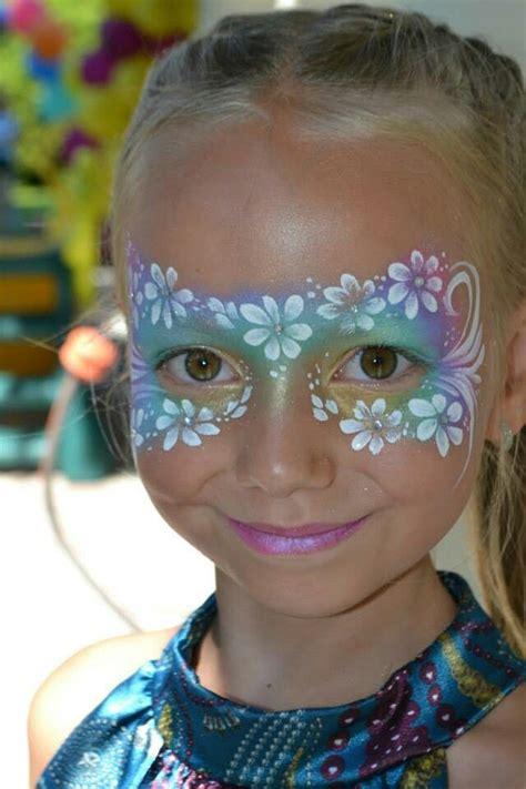 flower makeup painting flower mask facepaint