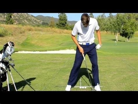 pure golf swing pure swing golf proper ball position youtube