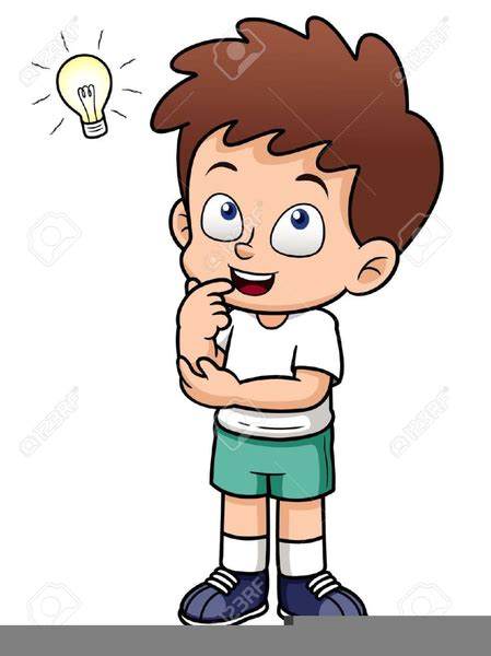 children clipart child thinking clipart free images at clker vector