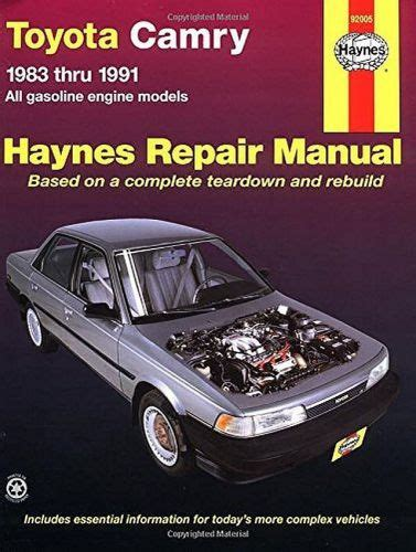 toyota camry 1987 1991 service repair manual by hong lii issuu buy toyota camry service shop manual 1991 1990 1989 1988 1987 1986 1985 1984 1983 gt motorcycle