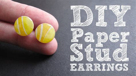 How To Make Earrings At Home With Paper - diy paper stud earrings colorful upcycled jewelry