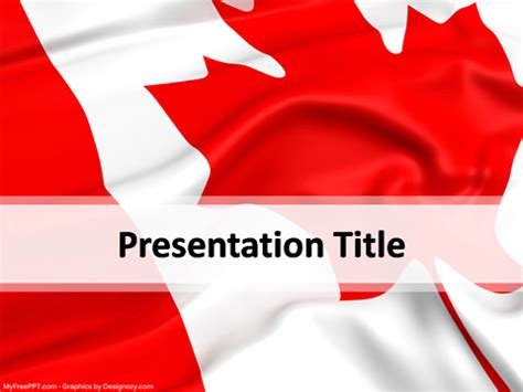 canada powerpoint template download free powerpoint ppt