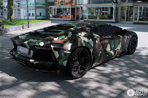 camo lamborghini lamborghini aventador with jungle camouflage wrap