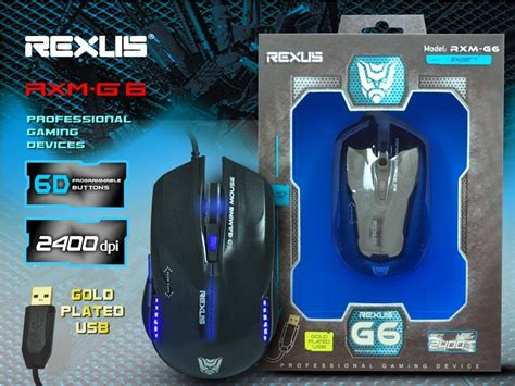 Mouse Rexus Rxm G4 gaming mouse rexus warrior avenger g4 g5 g6 g7