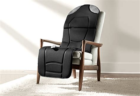 Recliner Pad by Heated Pad With Speakers Sharper Image