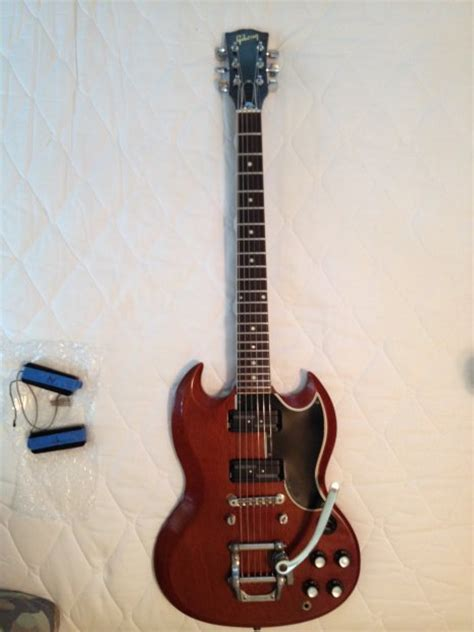 Tremollo Gibson vintage gibson sg 1962 bigsby tremolo reverb