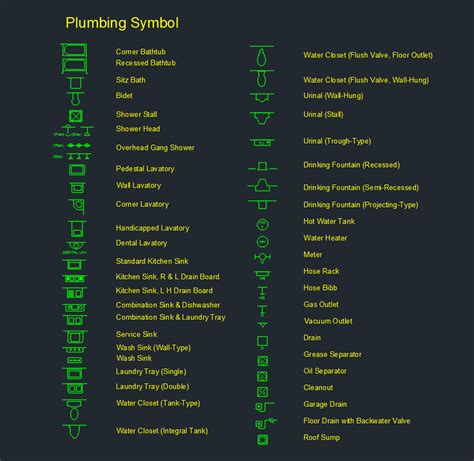 Plumbing Symbol     Free CAD Block And AutoCAD Drawing