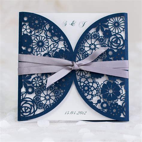 awesome blue wedding color ideas wedding invitations to in 2016 - Navy Blue Ribbon Wedding Invitations