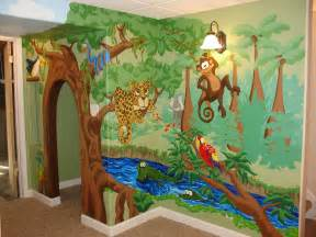 2628 village green beautiful playhouse with whimsical safari mural nursery safari wall mural short news poster