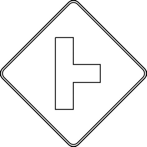 Road Sign Outlines by Outlined Traffic Signs Coloring Pages